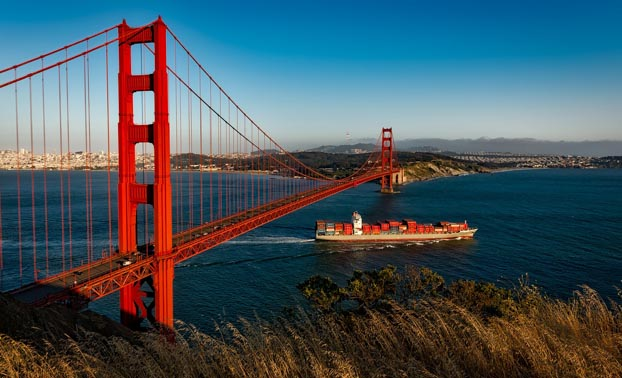USA Reisen San Francisco Golden Gate Bridge